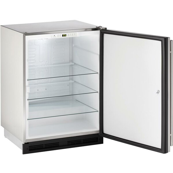 Reversible Stainless Steel 24-inch 5.2 cu. ft. Undercounter Refrigeration by U-Line