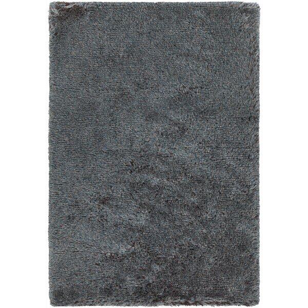 Gareth Hand-Woven Blue/Brown Area Rug by Everly Quinn