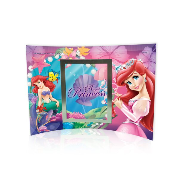 Disney Princesses (Ariel) Curved Glass Print with Photo Frame by Trend Setters