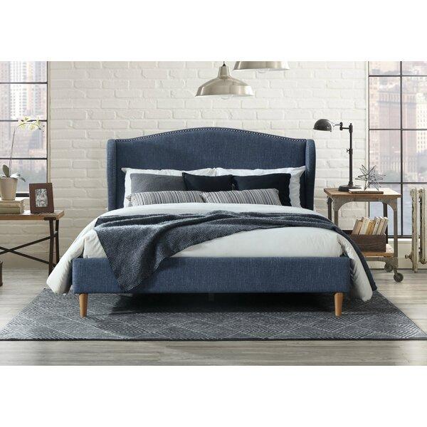 Monett Queen Upholstered Platform Bed by Modern Rustic Interiors