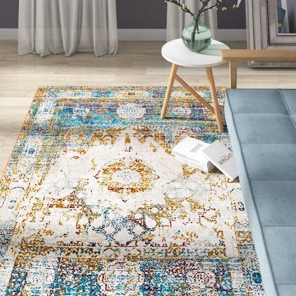 Hartell Beige Area Rug by Bungalow Rose