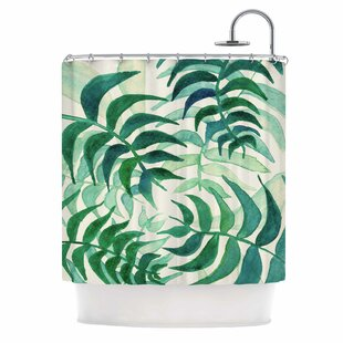 'Botanical Vibes' Shower Curtain ByEast Urban Home