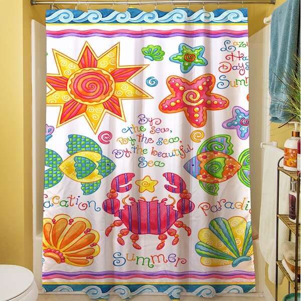 By the Sea Shower Curtain by Manual Woodworkers & Weavers