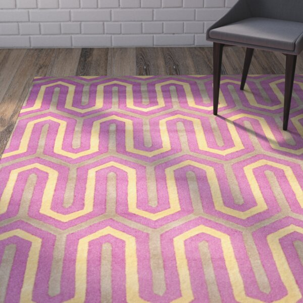 Martins Hand-Tufted Pink/Gray Area Rug by Wrought Studio