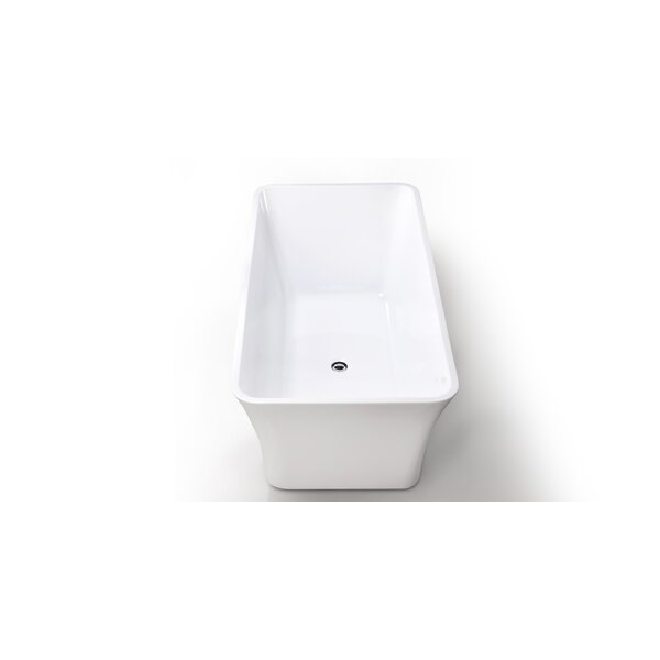 HelixBath Parva 59 x 29.5 Soaking Bathtub by Kardiel