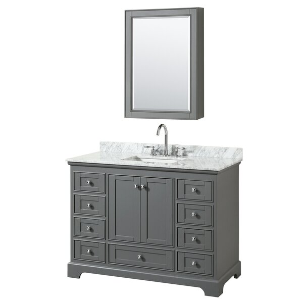 Deborah 48 Single Bathroom Vanity Set with Medicine Cabinet by Wyndham Collection