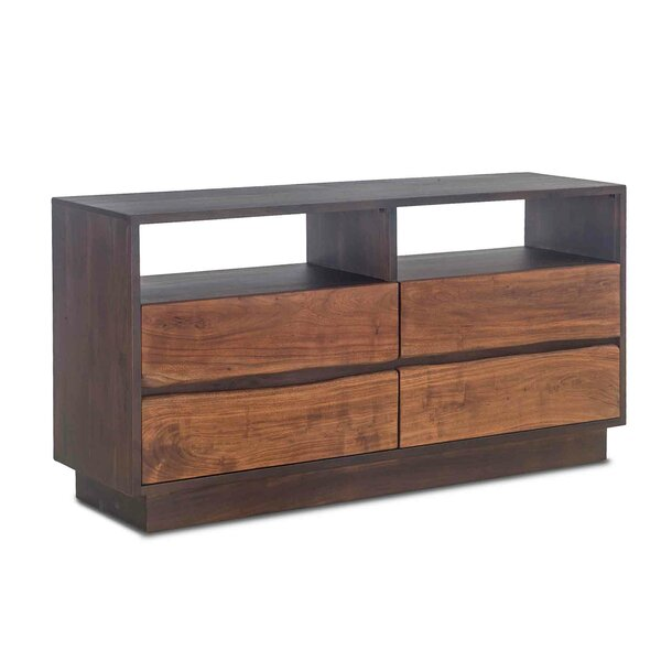 Woodbury Acacia Wood 4 Drawer Double Dresser by Foundry Select