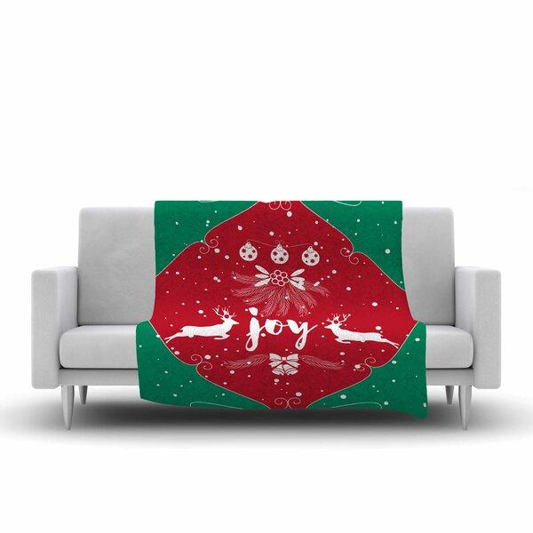 Famenxt Christmas Joy Digital Fleece Throw by East Urban Home