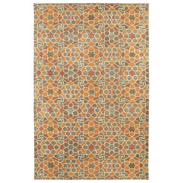 Devereaux Hand Tufted Orange Area Rug by Bloomsbury Market
