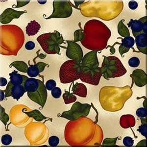 Tuftop Fruit Collage Trivet by McGowan