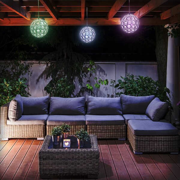 LED Concepts Solar Hanging Sparkling Crystals Gazing Ball by Sorbus