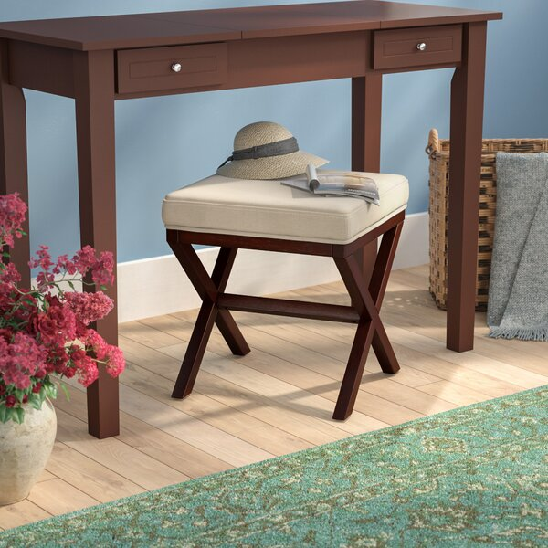 Milford Wood Vanity Stool by Charlton Home