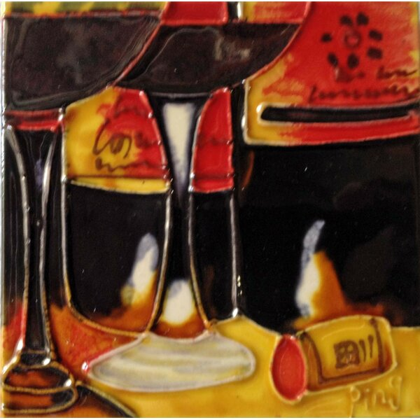 Dark Wine 4 Tile Wall Decor by Continental Art Center