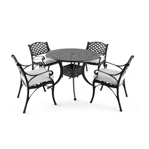 Vess 5 Piece Dining Set with Cushions