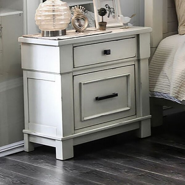 Zachary 2 Drawer Nightstand by One Allium Way