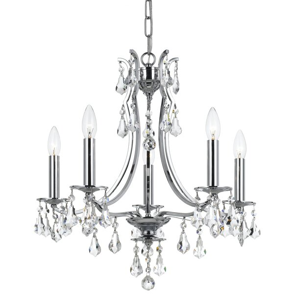 Sanford Swarovski Strass 5-Light Candle Style Empire Chandelier by House of Hampton House of Hampton
