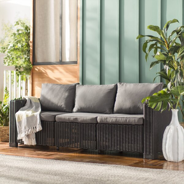 Stallcup Patio Sofa with Cushions by Brayden Studio