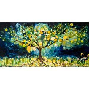 Lemon Tree Landscape by Eli Halpin Painting Print on Canvas by GreenBox Art