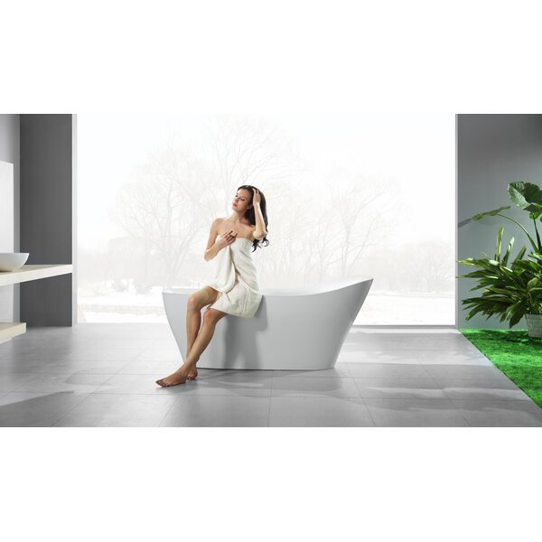Ucore 71 x 32 Freestanding Soaking Bathtub by UCore