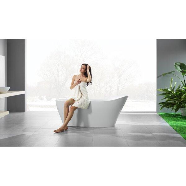 Ucore 71 x 32 Freestanding Soaking Bathtub by UCore