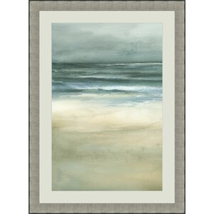'Sea I' Framed Painting Print by Global Designs