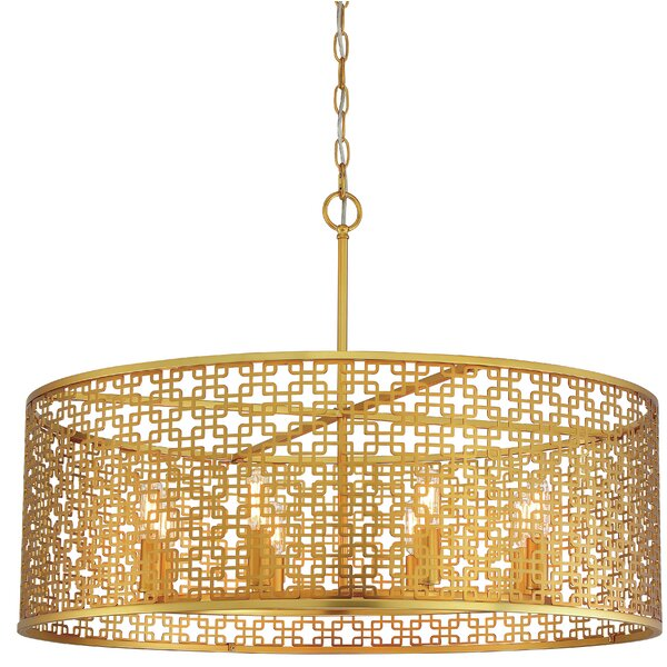 Blairmoor 8-Light Drum Chandelier by Metropolitan by Minka