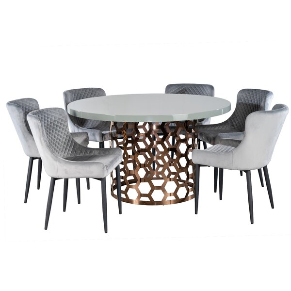 Cadwallader 7 Piece Dining Set by Everly Quinn Everly Quinn