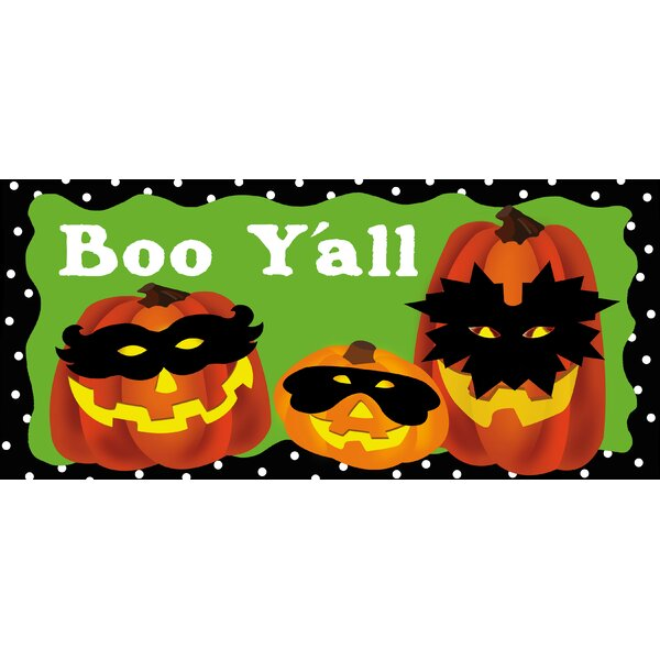 Jack-o-Lantern Gathering Sassafras Switch Doormat