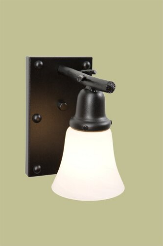Rivets Glacier 1-Light Armed Sconce by Steel Partners
