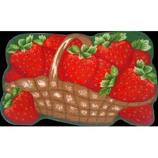 Strawberries Kitchen Mat