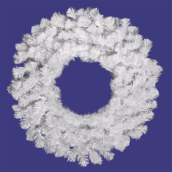 Snow Artificial 48 Lighted PVC Wreath by The Holiday Aisle