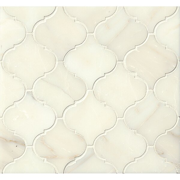 Marble Mosaic Tile in Calacatta Oro by Grayson Martin