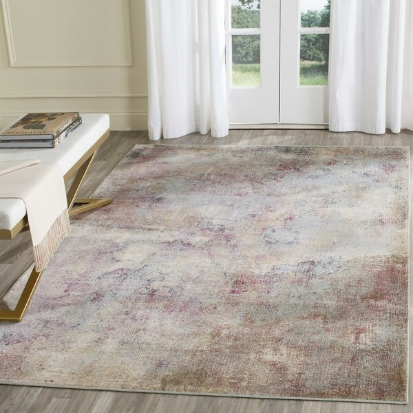 Stave Beige/Multi Area Rug by Wrought Studio