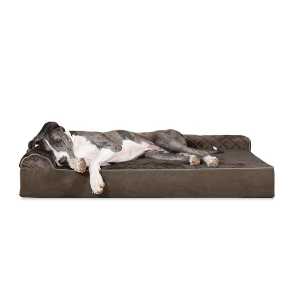 Dichiera Quilted DLX L-Chaise Lounge Dog Bed Sofa by Tucker Murphy Pet
