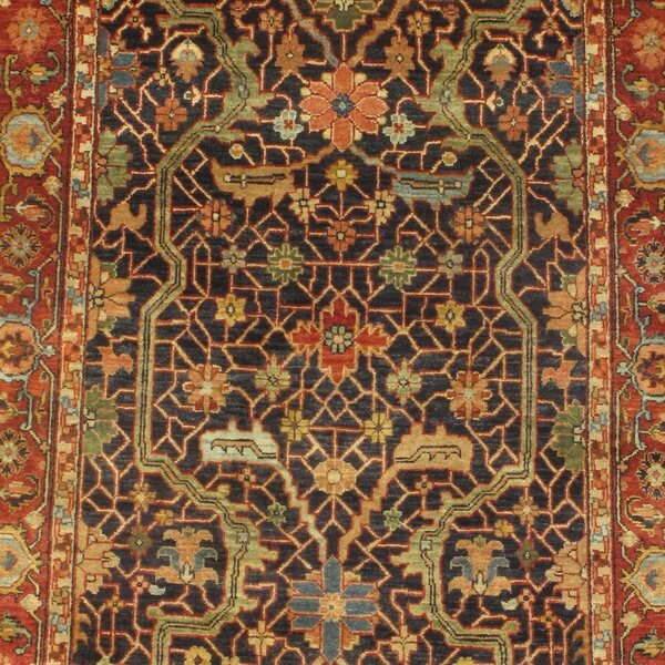 Serapi Hand-Knotted Wool Brown Area Rug by Pasargad NY