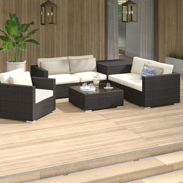 Coast 11 Piece Rattan Sectional Seating Group with Cushions by Sol 72 Outdoor