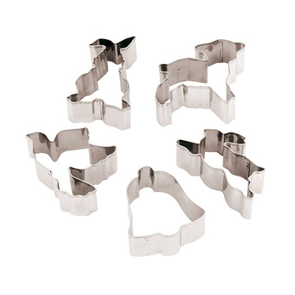 12 Piece Stainless Steel Easter Cookie Cutters Set by Paderno World Cuisine