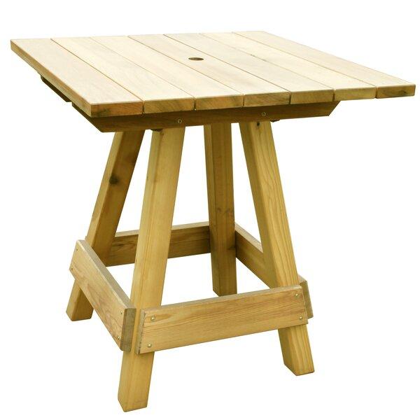 Lanham Oak Bar Table by Gracie Oaks