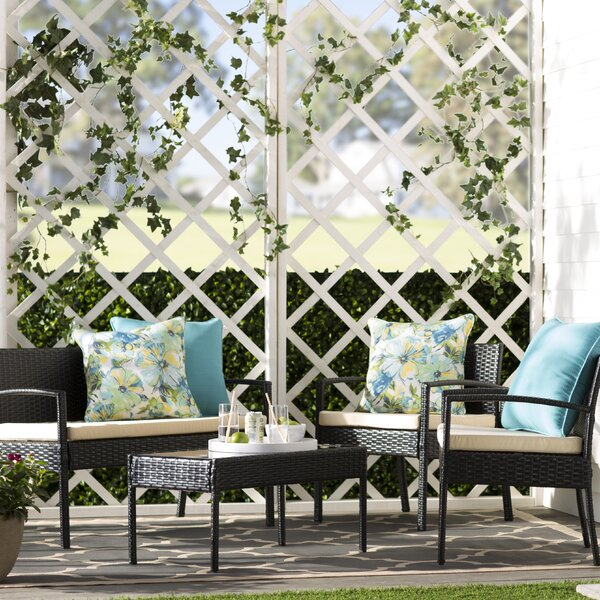 Fayette 4 Piece Set with Cushions by Charlton Home