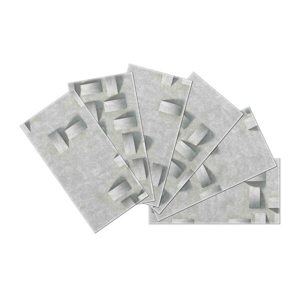 Crystal Skin 3 x 6 Glass Subway Tile in Off White by SkinnyTile