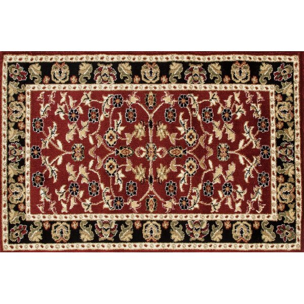 Willcox Burgundy/Black Area Rug by Fleur De Lis Living