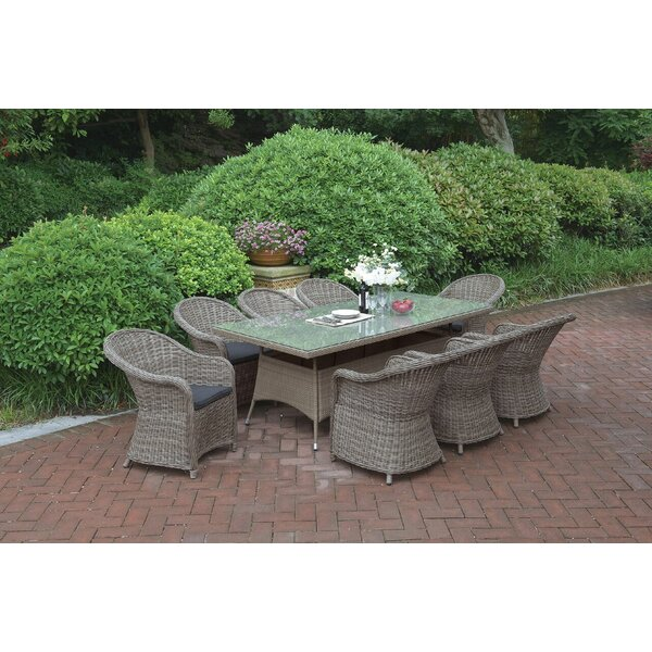 9 Piece Dining Set with Cushions by JB Patio