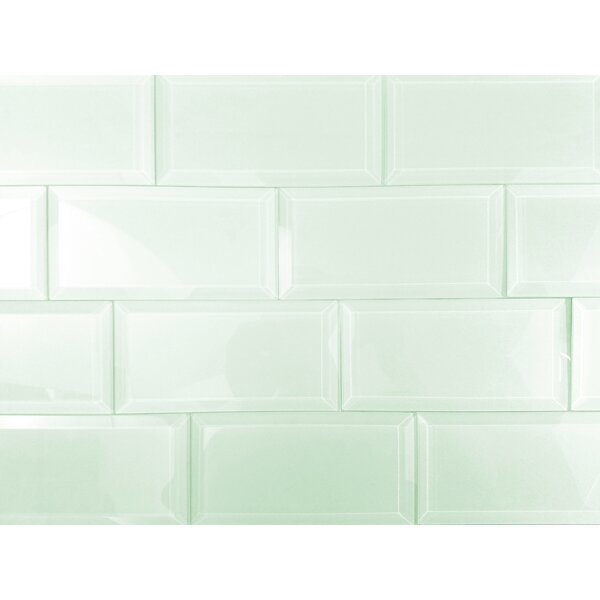 Frosted Elegance 3 x 6 Glass Subway Tile in Glossy Arctic by Abolos
