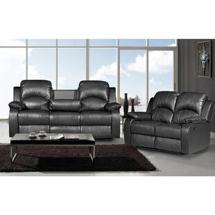Willian 2 Piece Leather Living Room Set