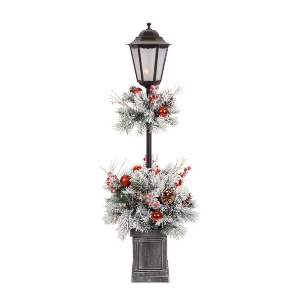 Zariah Pine Potted 48 Lamp Post by The Holiday Aisle