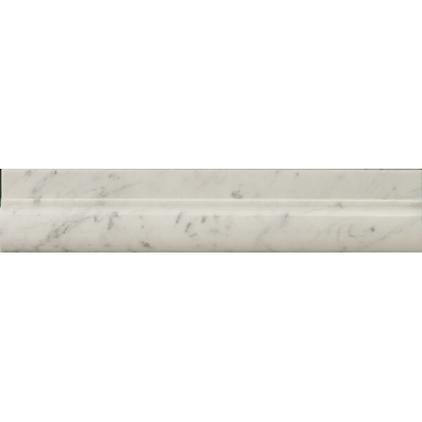 Natural Stone 12 x 2 Polished Marble OG in Bianco Gioia by Emser Tile