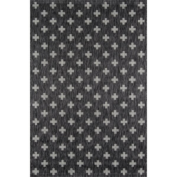 Umbria Charcoal Indoor/Outdoor Area Rug by Novogratz