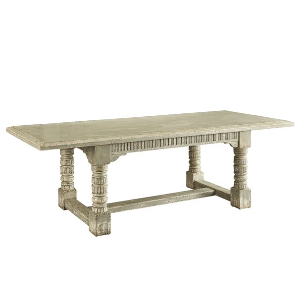 Alaya Solid Oak Dining Table by Bungalow Rose Bungalow Rose