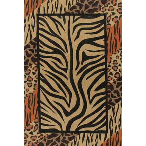 Doctor Phillips Brown/Black Animal Print Area Rug by Bloomsbury Market
