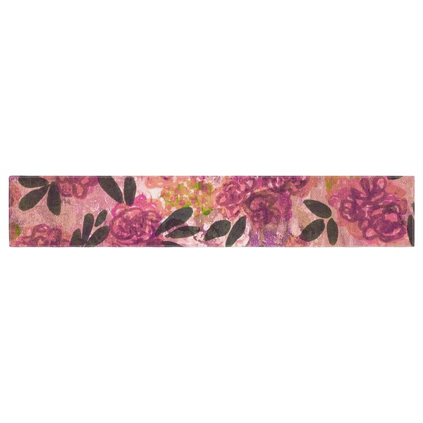 Ebi Emporium Grunge Flowers II Floral Table Runner by East Urban Home